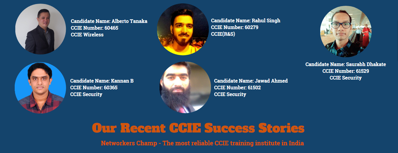 CCIE Certified candidates